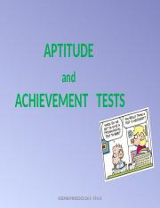 6-2015 - KKI- APTITUDE-ACHIEVEMENT