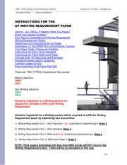 UF Writing Requirement Paper Summer B 2015