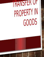 part 2 Transfer of property in goods.pptx
