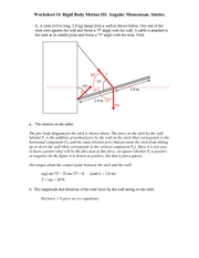 Recitation Worksheet O Solutions