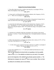 Chemistry Chapter 5 Extra problem solutions