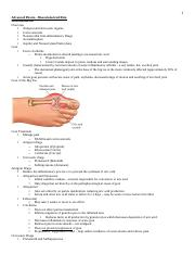 adv pharm - musculoskeletal pain