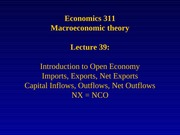 Lecture 39: Introduction to Open Economy