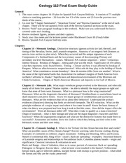 Final Exam study guide, Winter 2011, Geol 112