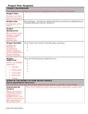 Project Plan Template (1)