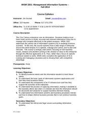 mism 2301 syllabus Trabajo presentado para el area de instituciones financieras.