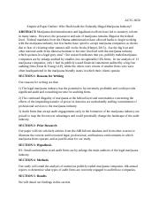 ACTG 6650 Marijuana Industry Auditing Outline (turn in).docx