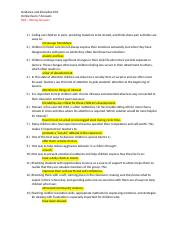Guidance and Discipline Online Exam 7 Answers