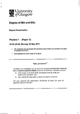 Exam Paper 2 May 2011