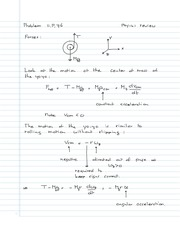PHYS 141 Motion of Yoyo Notes