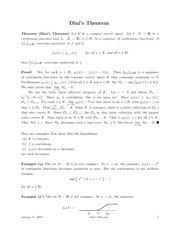 Math 321 - Dini's Theorem