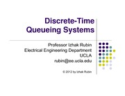 Section 11- Discrete Time Queueing Systems