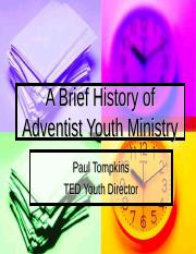 A Brief History of Adventist Youth Ministry.ppt
