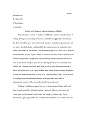 Stalking Irish Madness Book Report/Essay