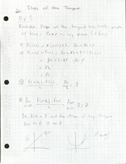 Slope of the Tangent Practice Problems