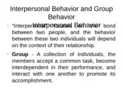 INTERPERSONAL REPORT