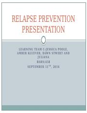 Relapse Prevention Presentations  Final