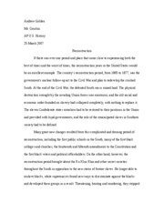 Compare And Contrast Essay On High School And College  Pages Reconstruction Essay Essay Papers For Sale also Essay About Health Reconstruction Study Resources High School Essay Topics