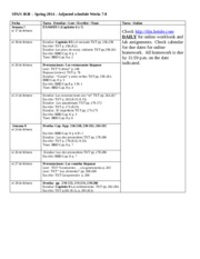 SPAN 1020 Adjusted schedule for Weeks 7-8 spring 2014(1)