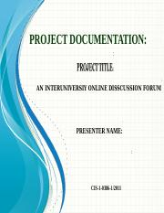 Requirement analysis document