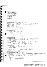 Redox Reaction Notes
