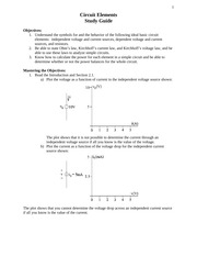 Circuit Elements study notes