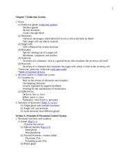 Endocrine System Notes 1