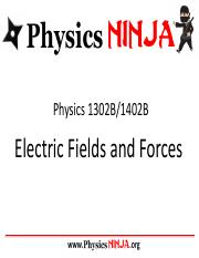 Physics Ninja - Electric Fields and Forces