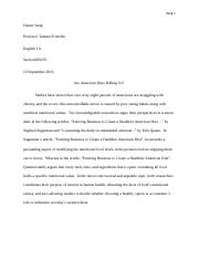 ENG 1A Compare&Contrast Essay