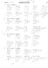 MPM 1D Substitution Practise Solutions