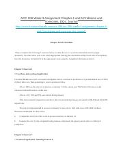 ACC 206 Week 3 Assignment Chapter 4 and 5 Problems and Exercises, DQs, Journal.docx