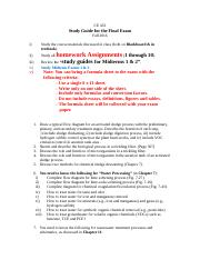 CE 453 Study Guide for Final Exam- '16