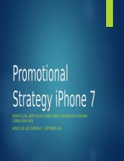 Promotional Strategy iPhone 7_Week 5_Team C-08-30-16