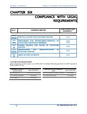 Chapter 6 Compliance with Legal requirements