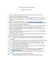 The Devil and Tom Walker analysis questions.docx