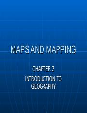 MAPS AND MAPPING (1)