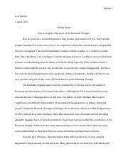 Outline For Analytical Essay Essay Outline Pdf  Jacqueline Evers Enc  Professor Szczesny The Bermuda  Triangle Outline Essay I History And Theories About The Origins Of The Format For An Argumentative Essay also Descriptive Essay On Food Essay Outline Pdf  Jacqueline Evers Enc  Professor Szczesny The  Examples Of Critical Appraisal Essays