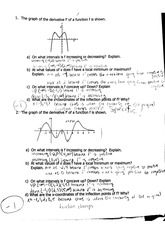 calc quiz drawing graphs