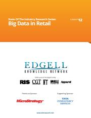 EKN's State of the Industry Research Series_Big Data in Retail