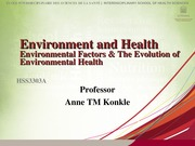 HSS3303A 2 Evolution of Environmental Health Student