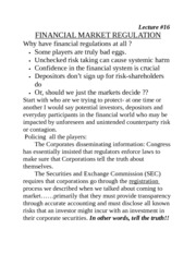 Financial Market Regs