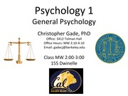 Class 18 - Clinical Psychology