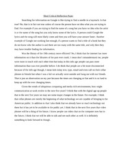 Example critical reflection essay