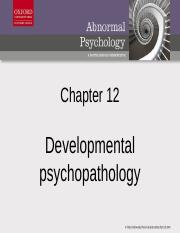 Chap12 Developmental Psychopathology.pptx