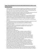 Chapter 1 Notes THE DEMAND FOR AUDIT AND OTHER ASSURANCE SERVICES.docx
