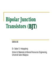 Chapter 1-Bipolar junction transistor (BJT).ppt