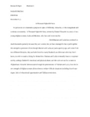 a thousand splendid suns isp essay sriramrangan engd mrs  6 pages a thousand splendid suns