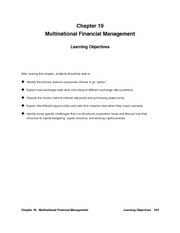 Financial Management Solution Manual Chapter 19