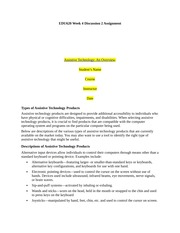 Ashford University  EDU620 Discussion paper