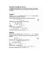 Finding points of intersection of a line and a curve in Coordinate Geometry.docx